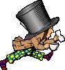 free vector Mad Hatter clip art