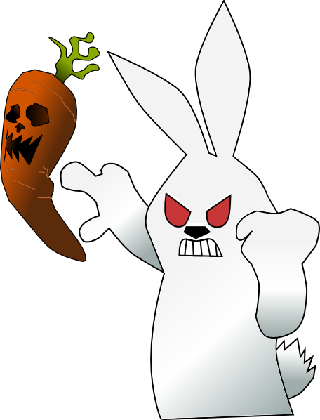 free vector Mad Rabbit clip art