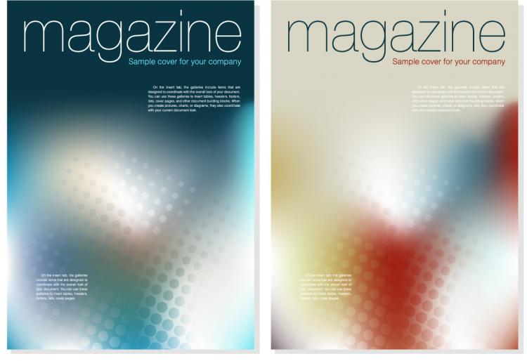 Magazine cover background vector Free Vector / 4Vector
