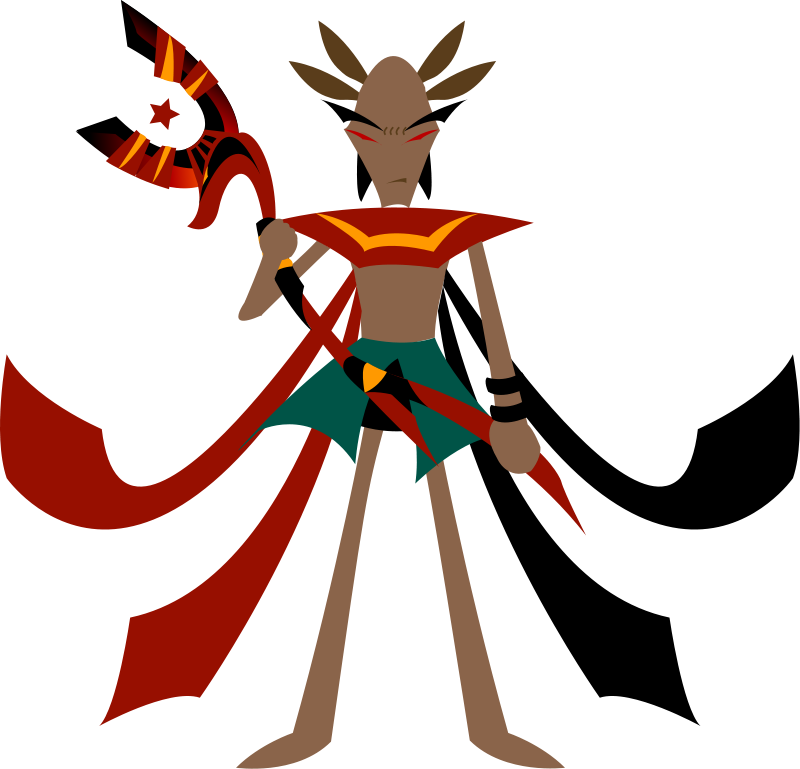 free vector Mage with anubis staff