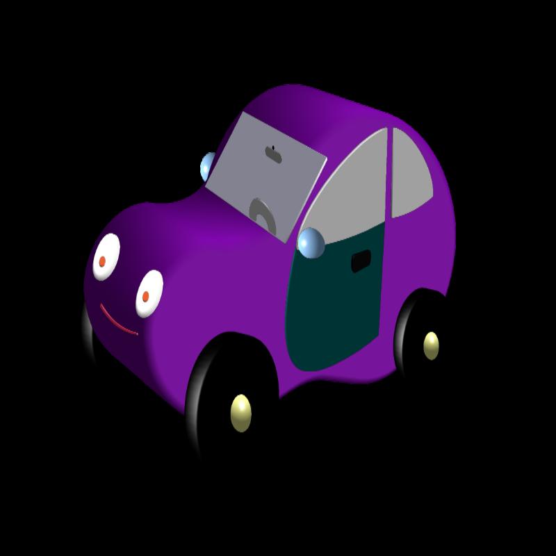 free vector Magenta car
