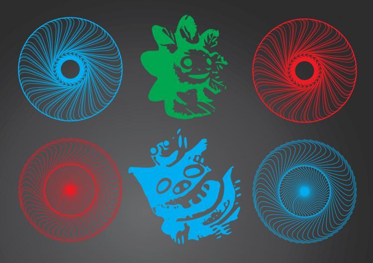 free vector Magic Circle and Graphic Icons Set