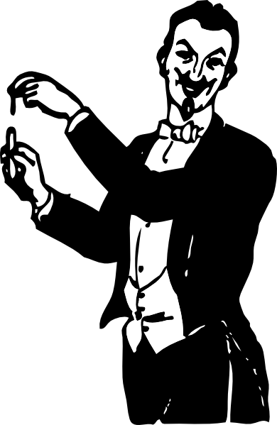 free vector Magician Doing A Trick clip art