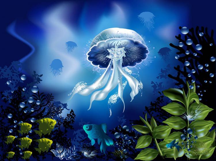 free vector Magnificent underwater world 04 vector