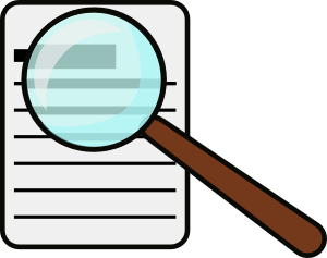 free vector Magnifying Glass clip art