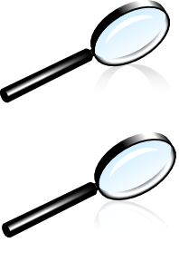 free vector Magnifying Glass Lens clip art