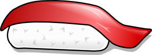 free vector Maguro Sushi clip art