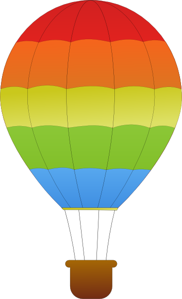 free vector Maidis Horizontal Striped Hot Air Balloons clip art