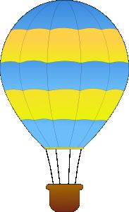 free vector Maidis Horizontal Striped Hot Air Balloons clip art