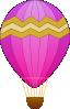 free vector Maidis Hot Air Balloons clip art