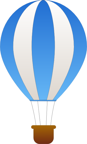 free vector Maidis Vertical Striped Hot Air Balloons clip art