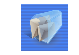 free vector Mail Box Full Icon clip art