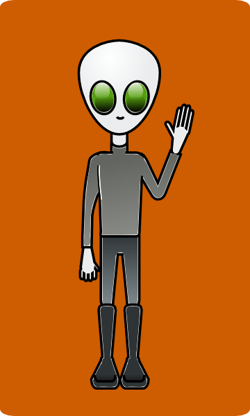 free vector Mairin Alien Dude clip art