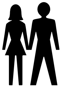 free vector Man And Woman Icon clip art