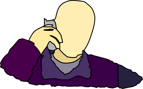 free vector Man Answering The Phone clip art