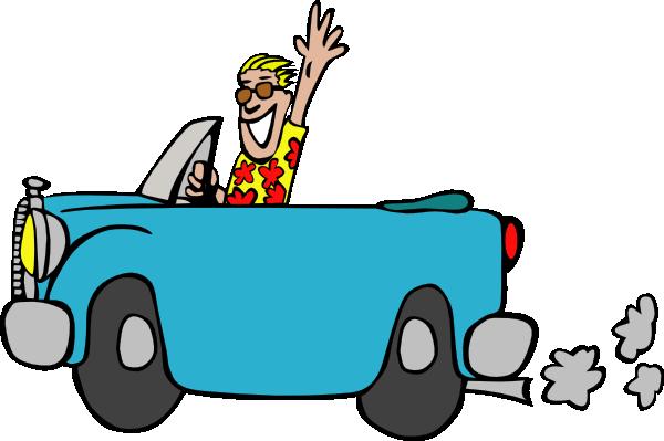 free vector Man Driving Car clip art