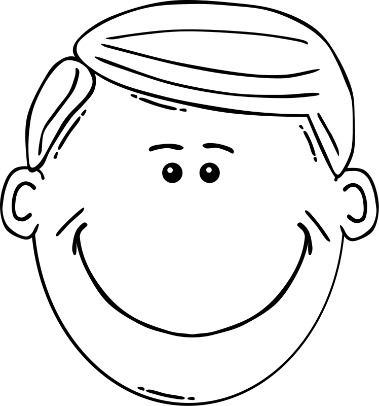 Man Face Cartoon Free Vector / 4Vector