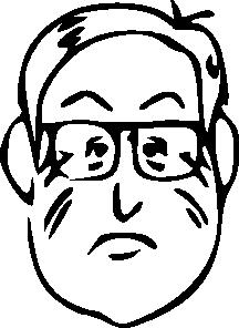 free vector Man Face Head Beard clip art