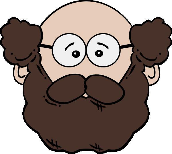 free vector Man Face World Label clip art