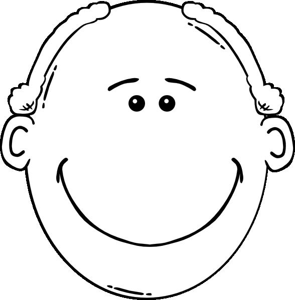 free vector Man Face World Label Outline clip art 108660
