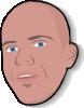 free vector Man Head clip art