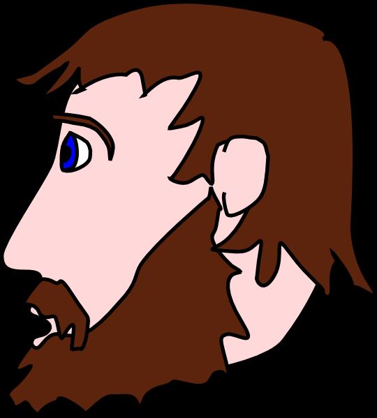 free vector Man Head Side Beard Mustache clip art