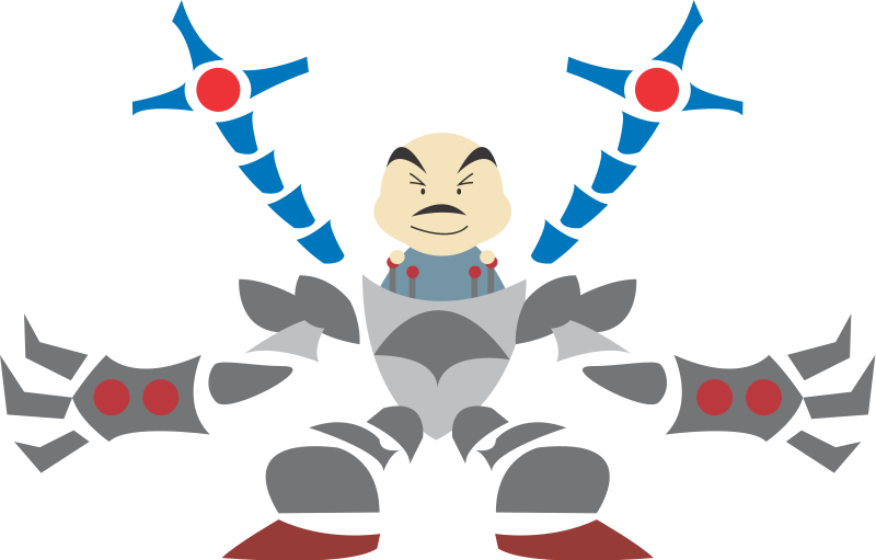 free vector Man in robot