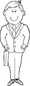 free vector Man In Suit Outline clip art