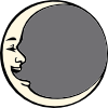 free vector Man In The Moon clip art