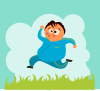 free vector Man Jogging clip art