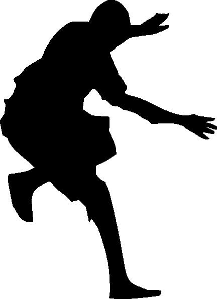 free vector Man Jumping Silhouette clip art