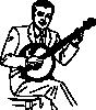 free vector Man Playing Banjo clip art