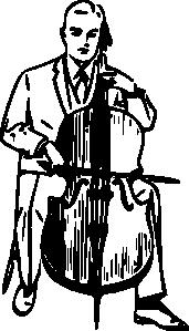 free vector Man Playing Cello clip art
