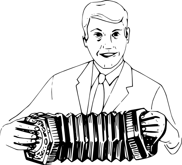 free vector Man Playing Concertina clip art