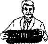 free vector Man Playing Concertina clip art