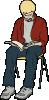 free vector Man Sitting Reading clip art