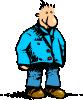 free vector Man Standing Cartoon clip art