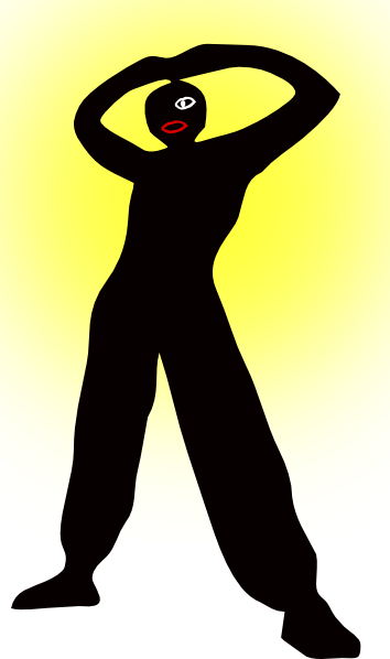 free vector Man Standing Silhouette clip art