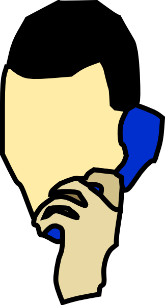 free vector Man Talking On The Phone clip art