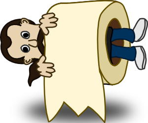 free vector Man Toilet Paper Roll clip art