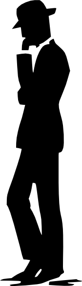 free vector Man Walking Talking On Cell Phone Silhouette clip art