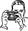 free vector Man With A Camera clip art