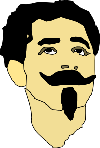 free vector Man With Mustache And Goatee clip art