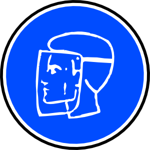 free vector Mandatory Face Protection clip art