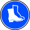 free vector Mandatory Feet Protection Hard Boots clip art