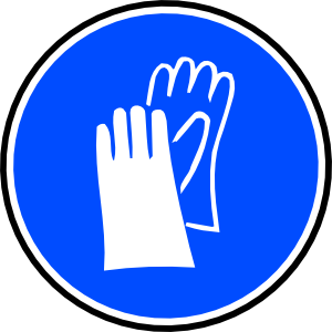 free vector Mandatory Hands Palms Protection clip art