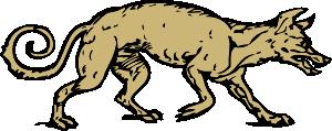 free vector Mangy Dog clip art