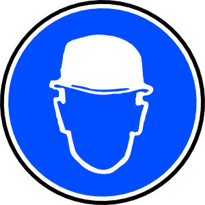 free vector Mantatory Hard Hat Over Head clip art