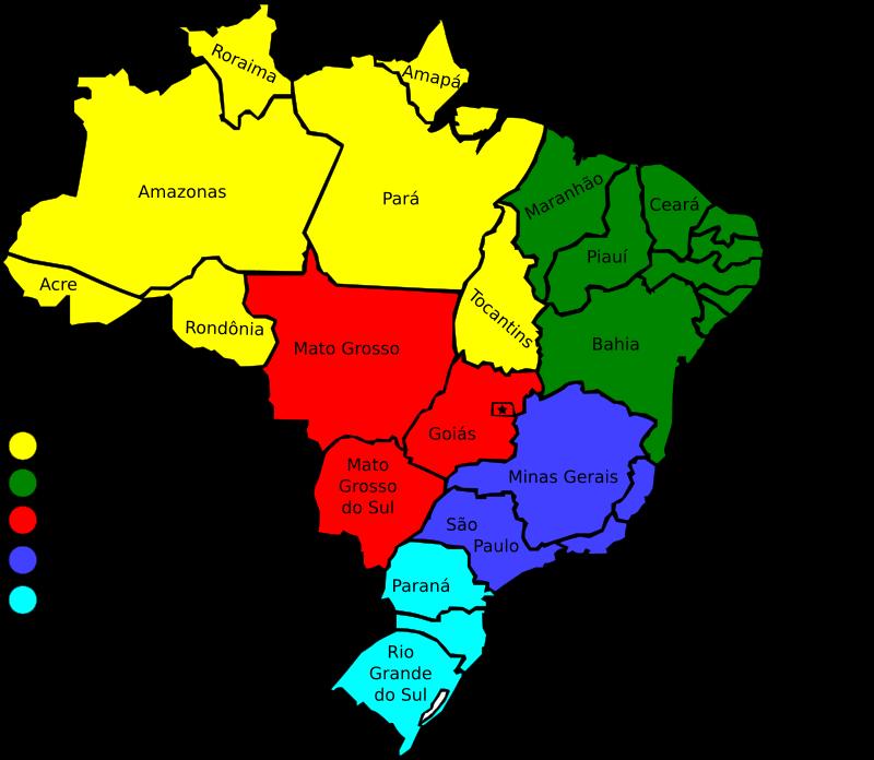 free vector Map of Brazil, v3
