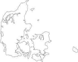 free vector Map Of Denmark clip art